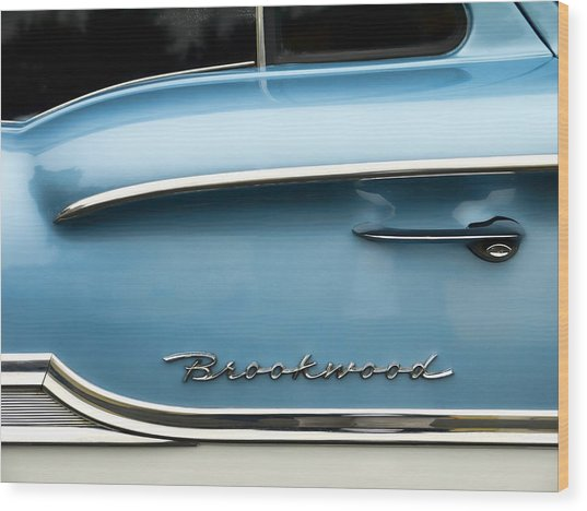 1958 Chevrolet Brookwood Station Wagon Wood Print