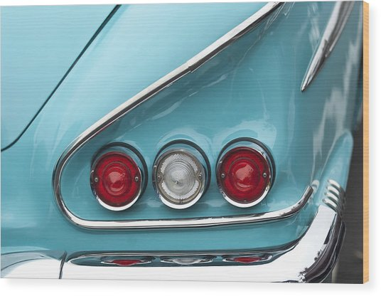 1958 Chevrolet Impala Taillights  Wood Print