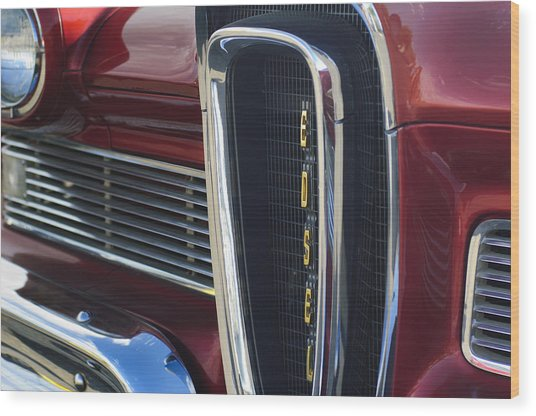1958 Edsel Pacer Grille 2 Wood Print