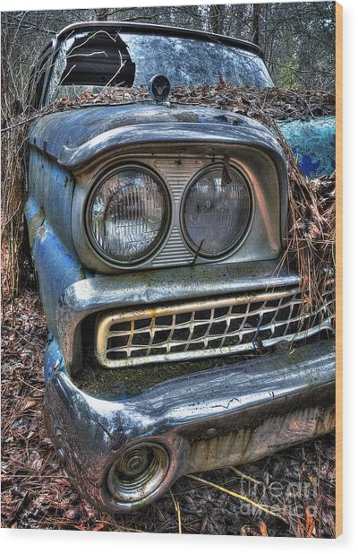 1959 Ford Galaxie 500 Wood Print