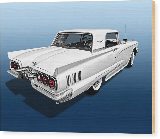 1960 Ford Thunderbird Wood Print