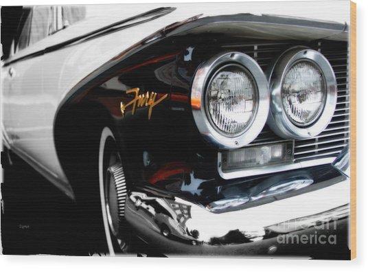 1960 Plymouth Fury  Wood Print by Steven Digman