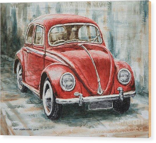 1960 Volkswagen Beetle 2 Wood Print