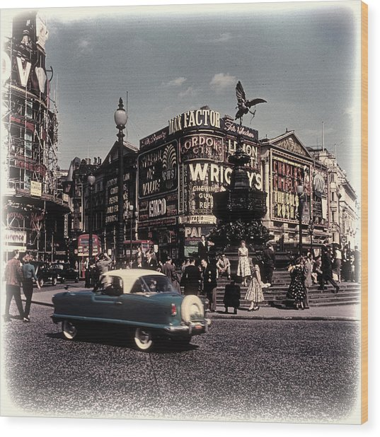 1960s Piccadilly Circus Wood Print