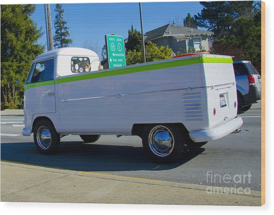 1960's Vw Truck  Wood Print by Aaron Fromenthal