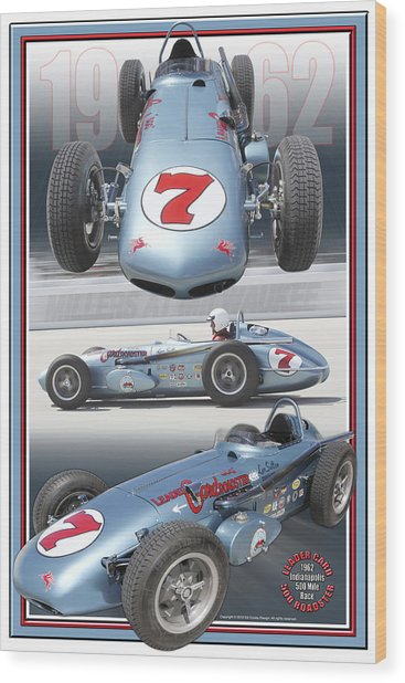 1962 Leader Card 500 Roadster Wood Print