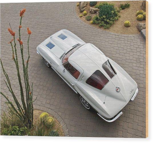 1963 Chevrolet Corvette Split Window -440c Wood Print