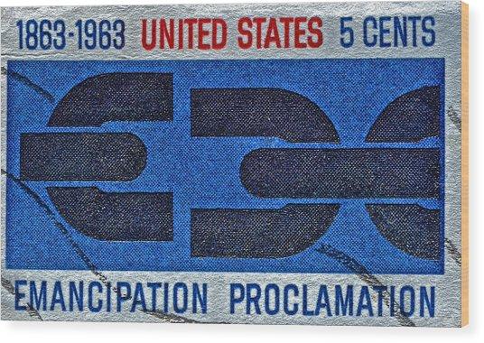 1963 Emancipation Proclamation Stamp Wood Print
