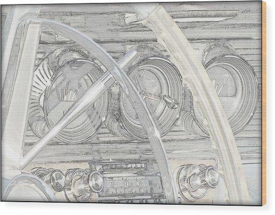 1964 Bonneville.....dash Wood Print