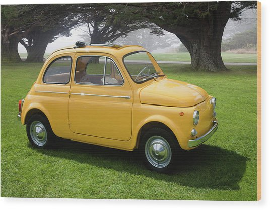 1964 Fiat 500d Wood Print by Car Culture
