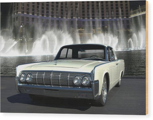 1964 Lincoln Continental Wood Print