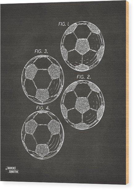 1964 Soccerball Patent Artwork - Gray Wood Print