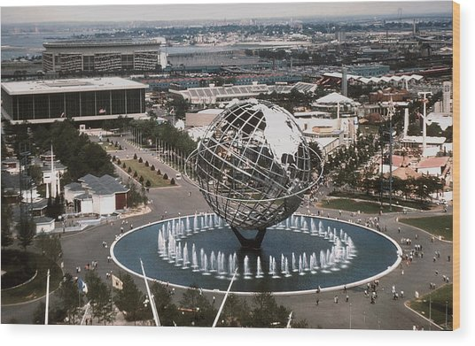 1964 Worlds Fair New York City Wood Print by Kevin Snider