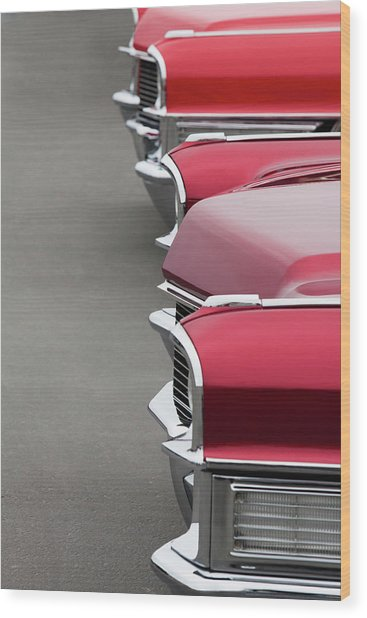 1965 Cadillac Deville Convertible Coupe Wood Print by Car Culture