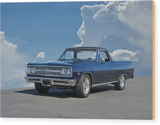 1965 Chevrolet El Camino Wood Print by Dave Koontz