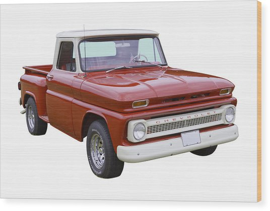 1965 Chevrolet Pickup Truck Wood Print