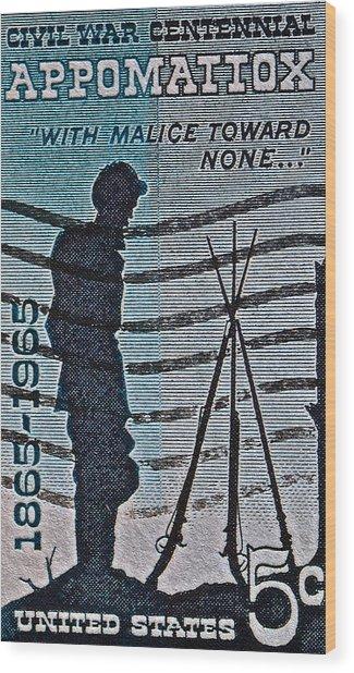 1965 Civil War Centennial Stamp Wood Print