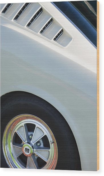 Wood Print featuring the photograph 1965 Shelby Mustang Gt350 Wheel Emblem by Jill Reger