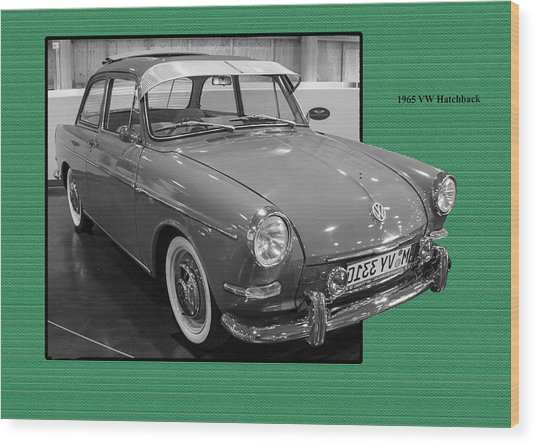 1965 Vw Notchback Wood Print
