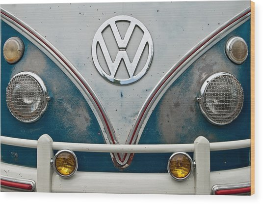 Wood Print featuring the photograph 1965 Vw Volkswagen Bus by Jani Freimann