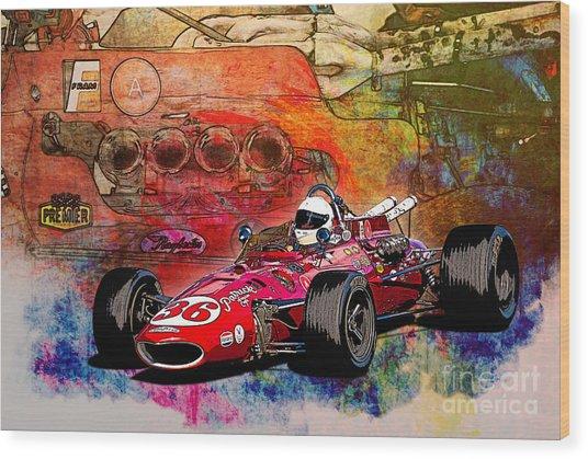 1966 9 Eagle Indy Wood Print