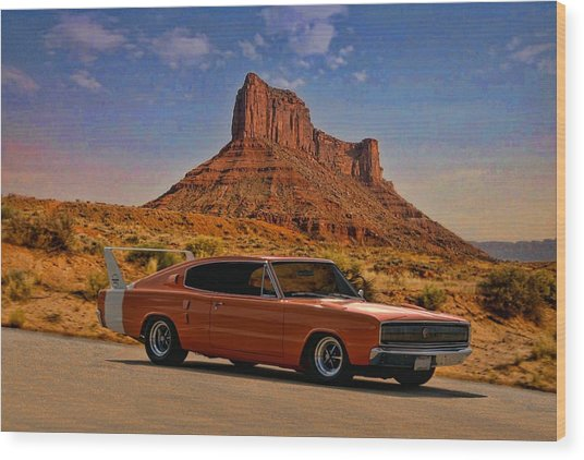 1966 Dodge Charger 500 Wood Print