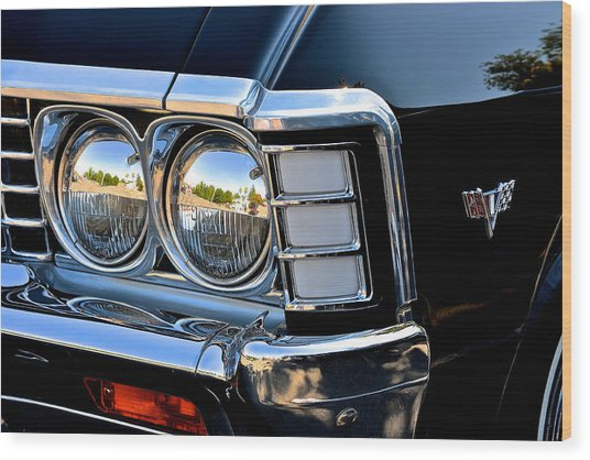 1967 Chevy Impala Front Detail Wood Print