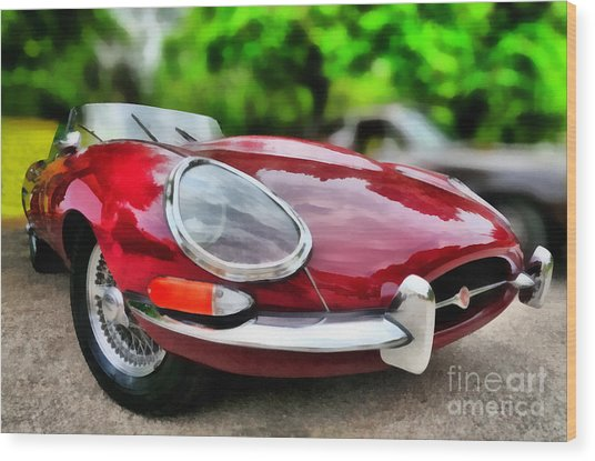 1967 Jaguar E Type Wood Print