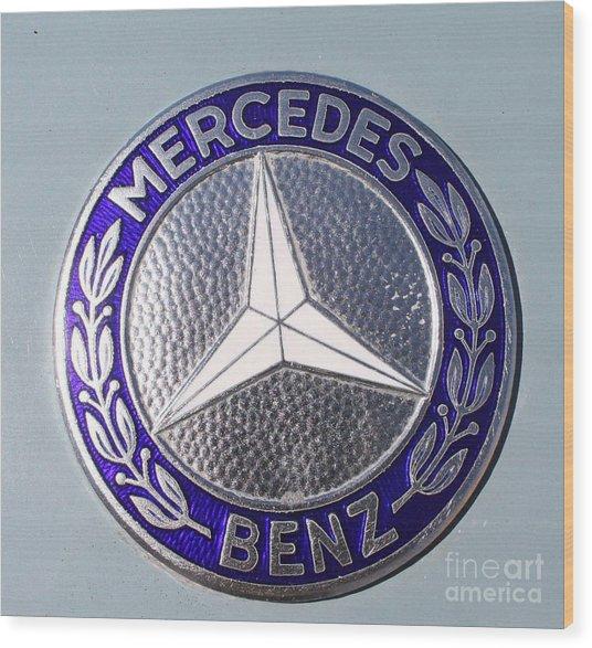 1967 Mercedes Benz Logo Wood Print