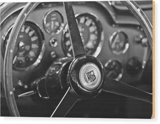 1968 Aston Martin Steering Wheel Emblem Wood Print