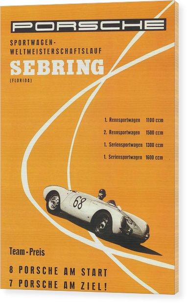 1968 Porsche Sebring Florida Poster Wood Print