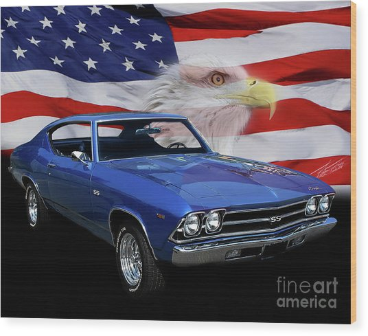 1969 Chevelle Tribute Wood Print