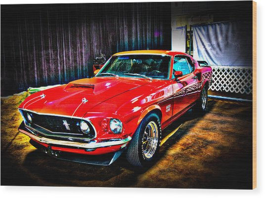 1969 Ford Boss 429 Mustang Wood Print
