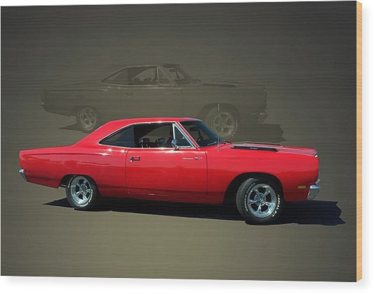 1969 Plymouth 440 Roadrunner Wood Print