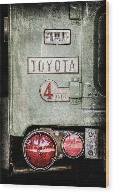 1969 Toyota Fj-40 Land Cruiser Taillight Emblem -0417ac Wood Print