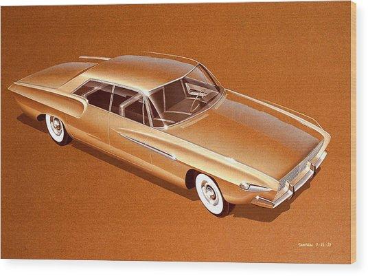 1970 Barracuda  Cuda Plymouth Vintage Styling Design Concept Sketch Wood Print by John Samsen