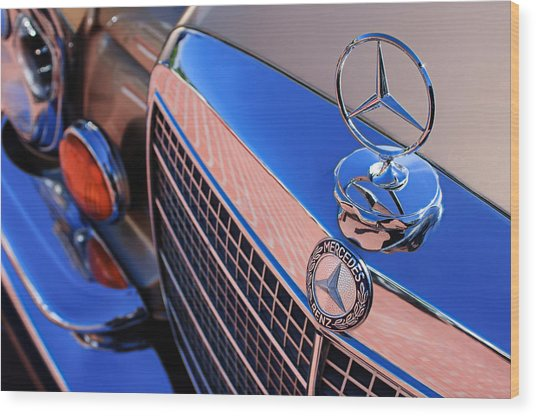Wood Print featuring the photograph 1971 Mercedes-benz 280se 3.5 Cabriolet  by Jill Reger