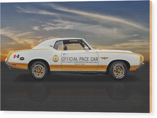 1972 Hurst Olds Pace Car Wood Print