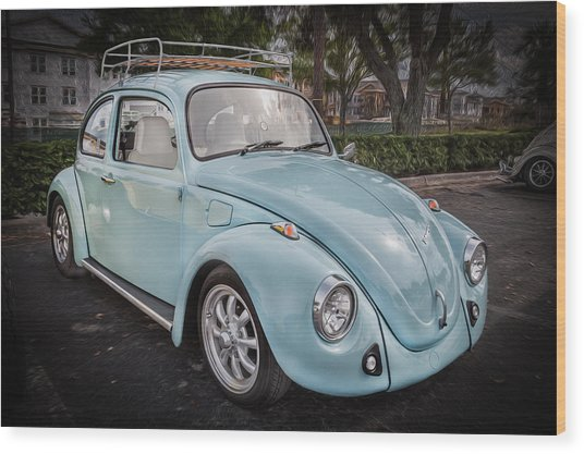 1974 Volkswagen Beetle Vw Bug Wood Print