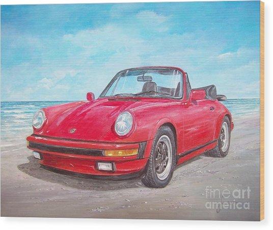 1987 Porsche Carrera Cabriolet Wood Print