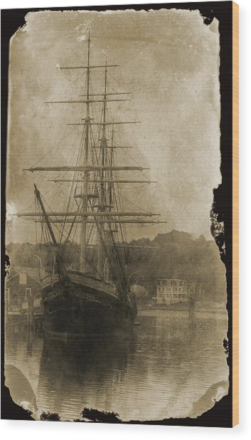 19th Century Schooner Wood Print
