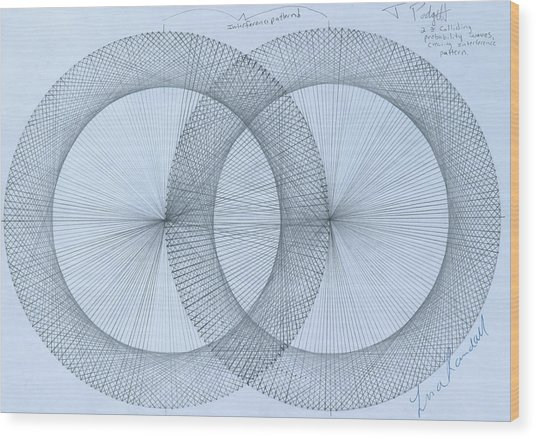 Magnetism Wood Print