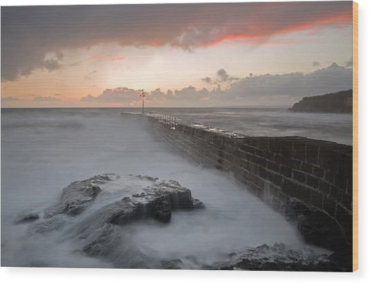 Porthleven In Cornwall Wood Print