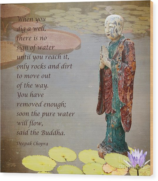 ... Said The Buddha Wood Print