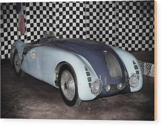 1936 Bugatti 57g Tank Wood Print