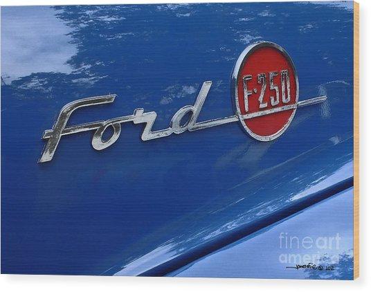 1954 Ford F250 Insignia. Wood Print