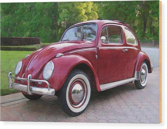 1960 Vw  Bug Wood Print