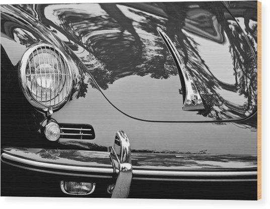 1963 Porsche 356 B Cabriolet Hood Emblem Wood Print
