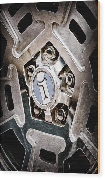 1972 Detomaso Pantera Wheel Emblem Wood Print