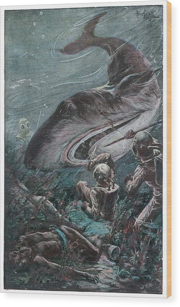 '20,000 Lieues Sous Les Mers' [20 000 Wood Print by Mary Evans Picture Library